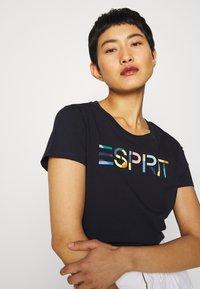 Esprit - CORE - T-shirt z nadrukiem - navy - 3