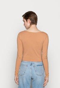 Even&Odd - 2 PACK - Maglietta a manica lunga - camel/black - 2