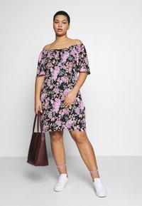 Fashion Union Plus - ROSE DRESS - Day dress - black - 1