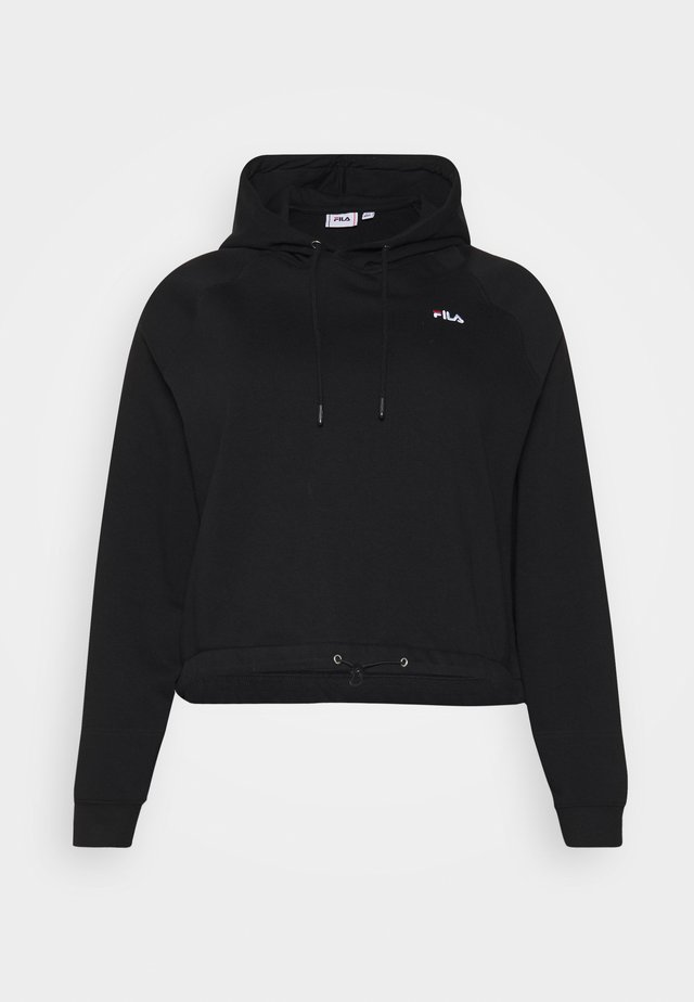 ELAXI CROPPED HOODY - Jersey con capucha - black
