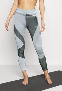 Nike Performance - SEAMLESS SCULPT 7/8 - Leggings - grey fog/black/white - 0