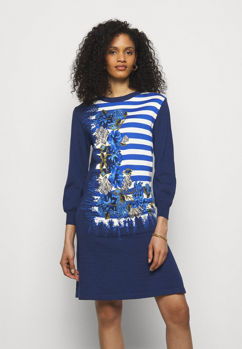 Alberta Ferretti - DRESS - Pletené šaty - blue