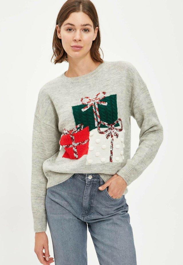 CHRISTMAS JUMPER - Sweter - grey