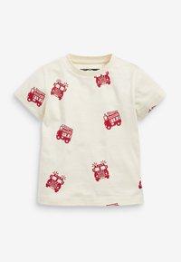 Next - 3 PACK  - Print T-shirt - off-white - 4