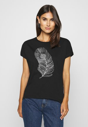 T-shirts med print - black