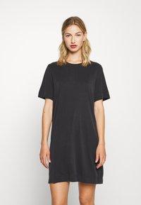 Monki - ABBIE DRESS - Žerzejové šaty - black dark - 0