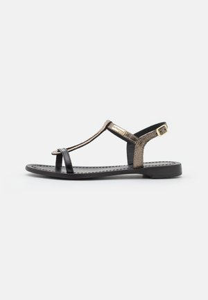 HAMABLAK - Sandals - noir/or