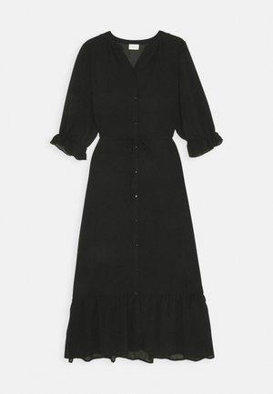 VIASTRID BUTTON TIE BELT DRESS - Maksimekko - black