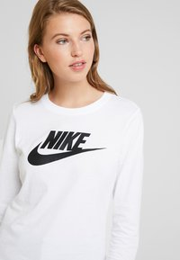 Nike Sportswear - TEE ICON - Long sleeved top - white/black - 3