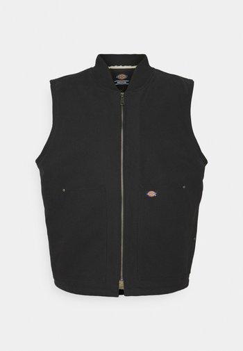 DUCK VEST - Waistcoat - black