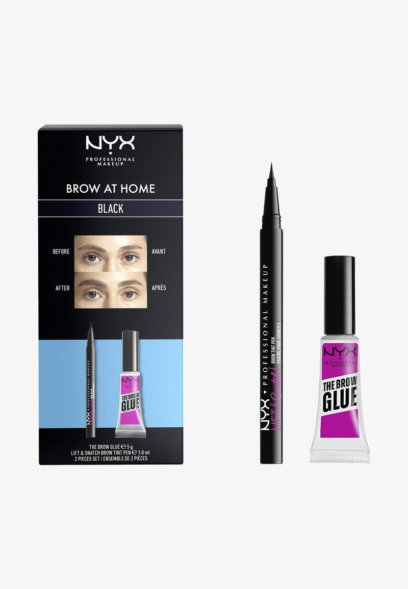 Nyx Professional Makeup - BROW AT HOME SET - Makeup set - black