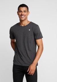 G-Star - BASE-S R T - Basic T-shirt - dark black - 0