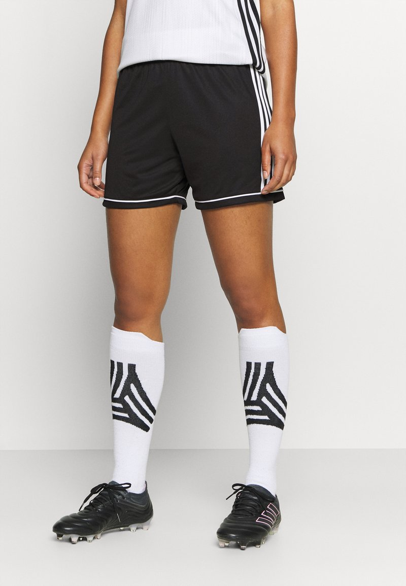 adidas Performance - SQUAD - Sports shorts - black/white