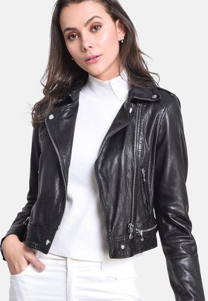 KYOTO - Leather jacket - black