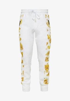 JOGGERS GIOIELLI SIDE STRIPE - Tracksuit bottoms - white