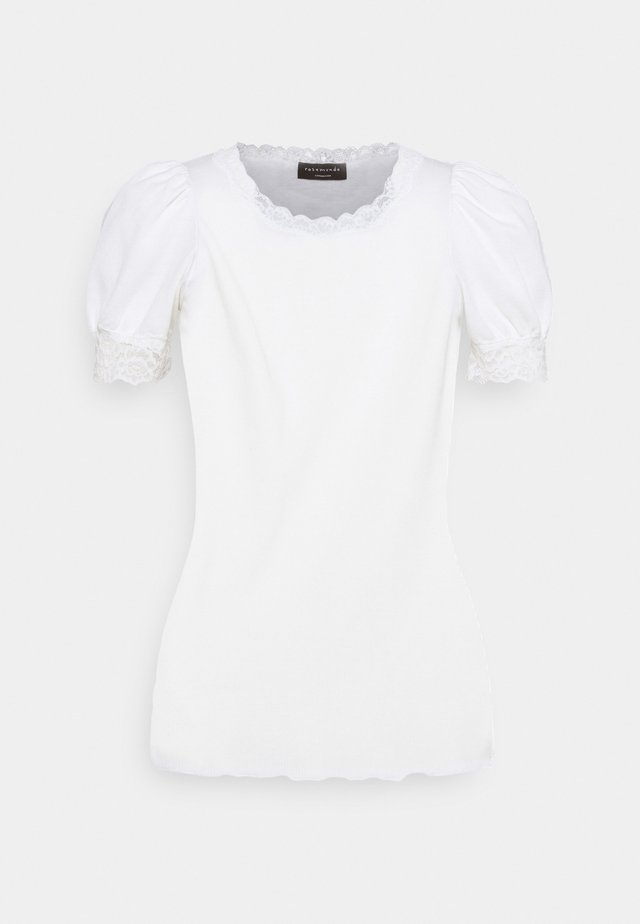 T-shirt med print - new white