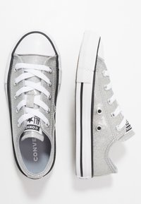 Converse - CHUCK TAYLOR ALL STAR COATED GLITTER  - Sneakers laag - wolf grey/black/white - 0