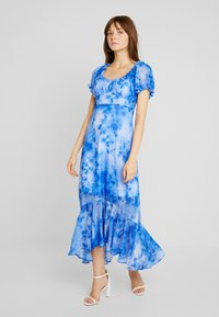 NA-KD - TIE DYE PUFF SLEEVE DRESS - Maxi dress - blue - 0