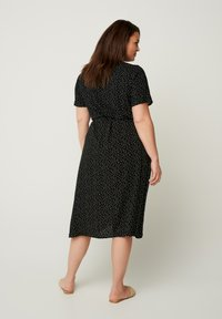 Zizzi - SHORT-SLEEVED WRAP - Day dress - black - 2