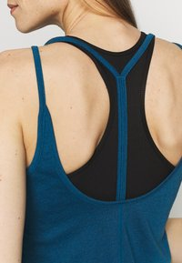 Nike Performance - YOGA STRAPPY TANK - Topper - valerian blue/industrial blue - 4