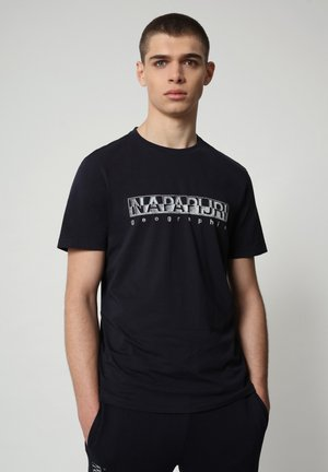SALLAR - Print T-shirt - blu marine