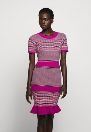 STRIPED WAVE DRESS - Robe fourreau - pink/multi