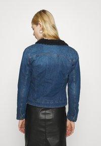 G-Star - 3301 SLIM SHERPA - Denim jacket - antic faded oregon blue - 2