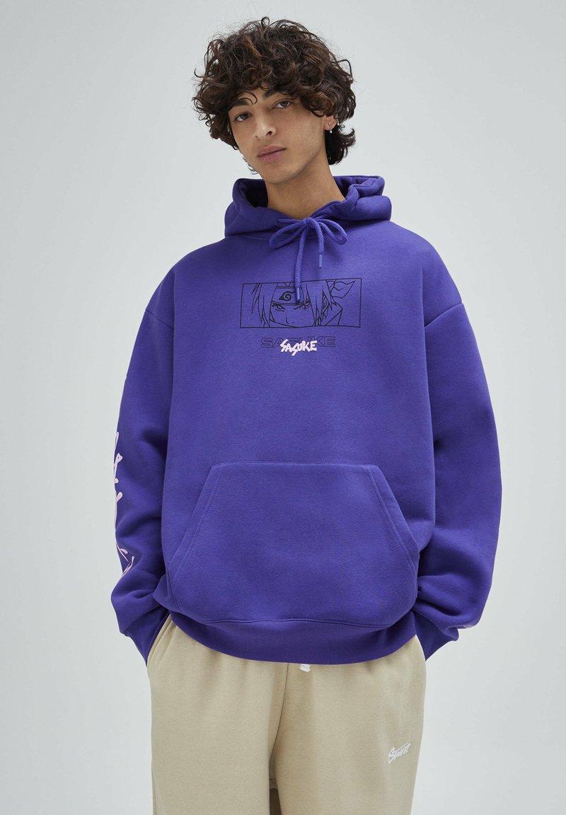 PULL&BEAR - Felpa con cappuccio - purple