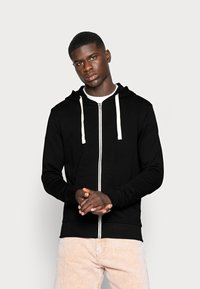 Jack & Jones - JJEHOLMEN - Zip-up sweatshirt - black/reg fit - 0
