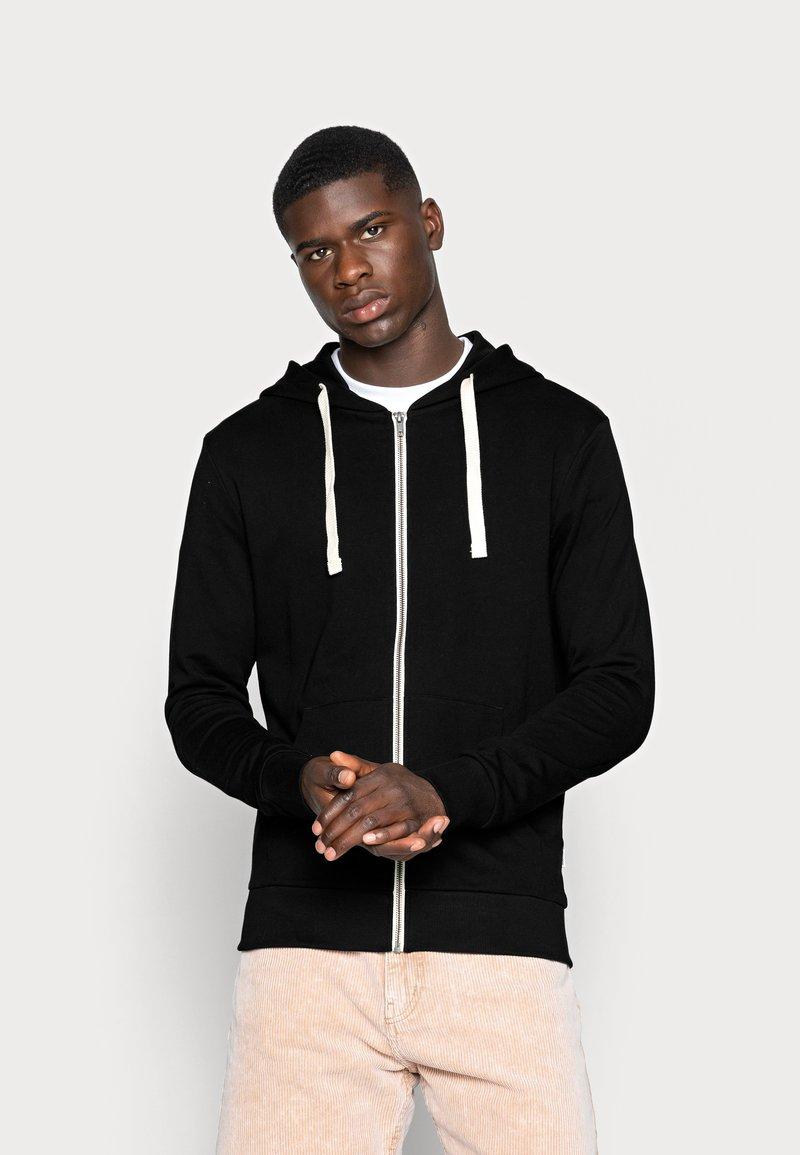 Jack & Jones - JJEHOLMEN - Zip-up sweatshirt - black/reg fit