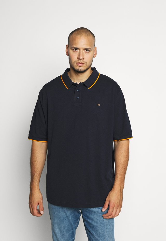 STRETCH TIPPING - Polo shirt - blue