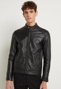 Selected Homme - CLASSIC JACKET - Veste en cuir - black - 0
