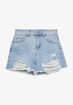 MONTANNA - Denim shorts - blue