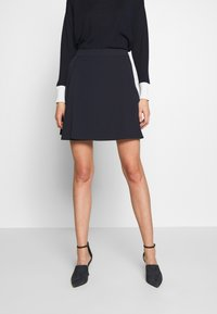 MAX&Co. - CANALI - A-line skirt - midnight blue - 2