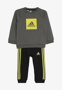 adidas Performance - 3STRIPES FRENCH TERRY TRACKSUIT BABY SET - Survêtement - green/yellow - 3