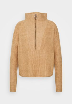 NMNEWALICE HIGH NECK - Jumper - beige