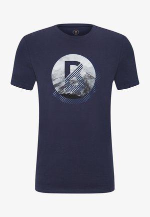 T-shirt imprimé - navy-blau