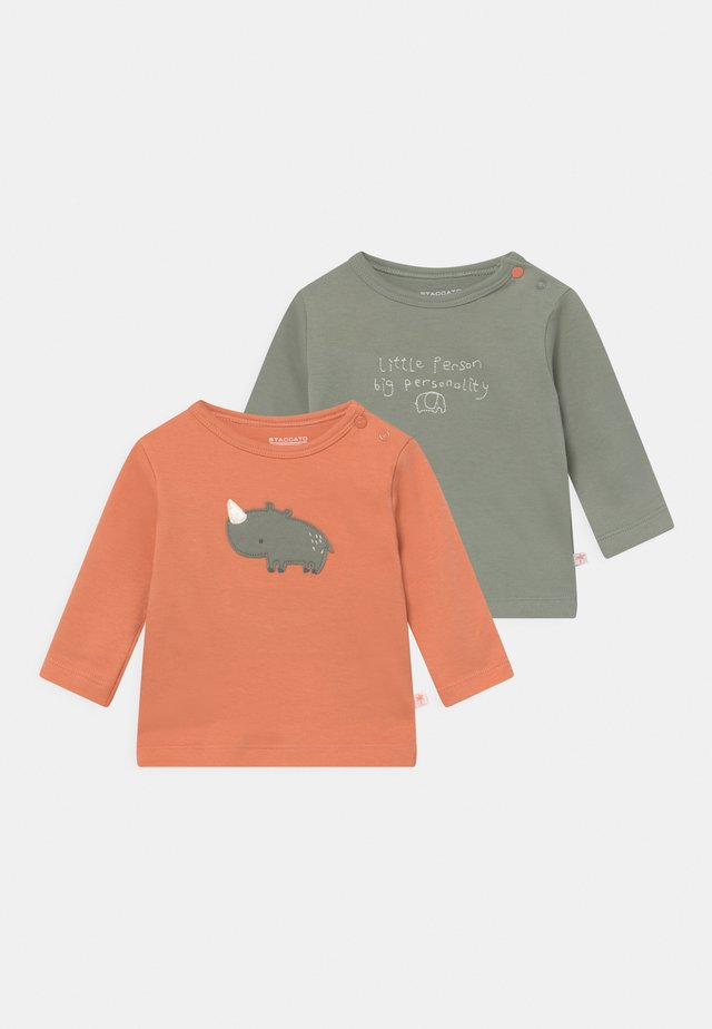 2 PACK - Longsleeve - orange/khaki