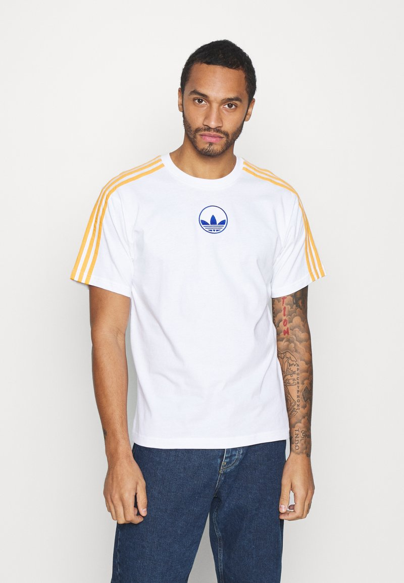 adidas Originals - STRIPE CIRCLE - T-shirt imprimé - white