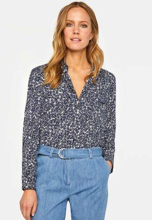 WE FASHION DAMENBLUSE MIT MUSTER - Button-down blouse - blue