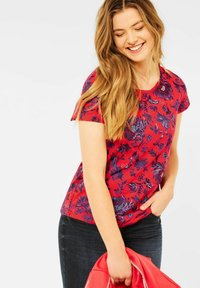 Cecil - Print T-shirt - rot - 0