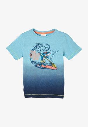 Print T-shirt - aqua gradient