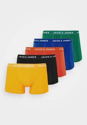 JACSUMMER COLORS TRUNKS 5 PACK - Shorty - black/gold fusion/chili/ever green