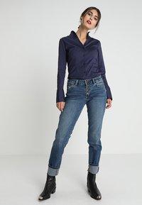 Seidensticker - Button-down blouse - dark blue - 1