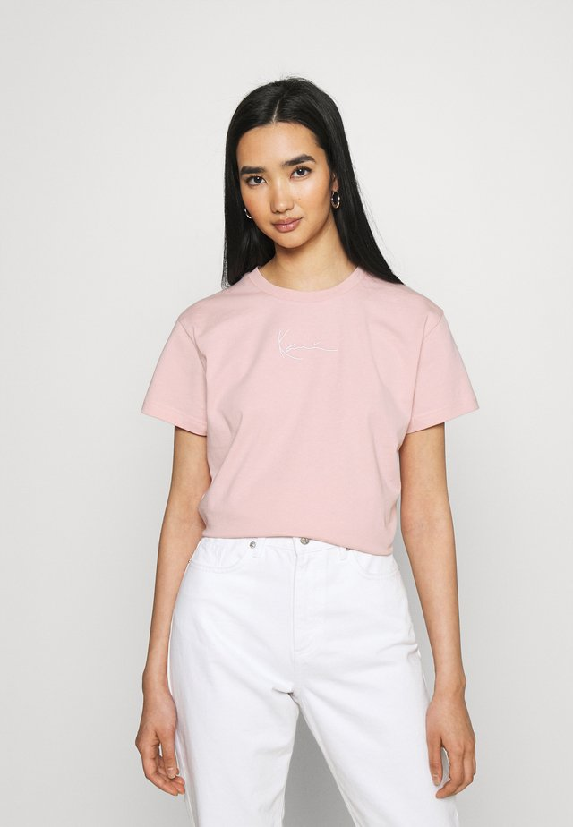 SMALL SIGNATURE TEE - T-shirt basic - rose