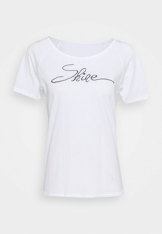 SHINE - T-shirt con stampa - white