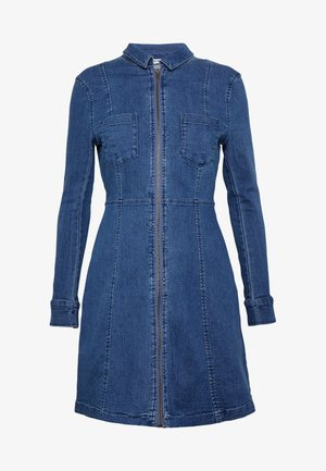 NMLISA ZIP DRESS - Dongerikjole - medium blue denim