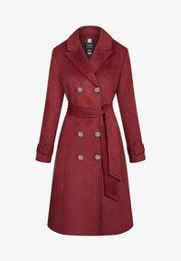 ORSAY - MIT BINDEGÜRTEL - Classic coat - weinrot - 3