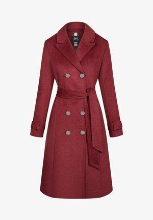 MIT BINDEGÜRTEL - Classic coat - weinrot
