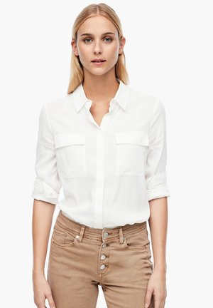 MIT BRUSTTASCHEN - Button-down blouse - cream
